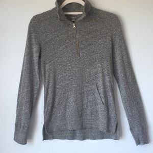 Aerie   Heathered Grey Quarter Zip Pullover Size S